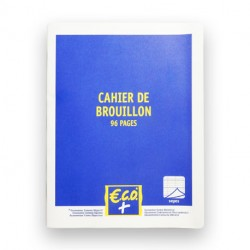 CAHIER DE BROUILLON GRANDS CARREAUX 17 X 22 96 PAGES